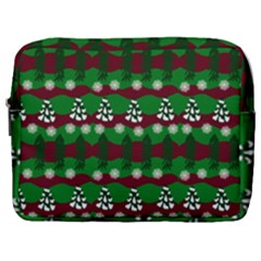 Snow Trees and Stripes Make Up Pouch (Large)