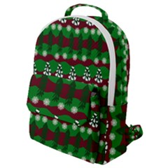 Snow Trees and Stripes Flap Pocket Backpack (Small)