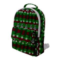 Snow Trees and Stripes Flap Pocket Backpack (Large)