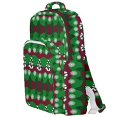 Snow Trees and Stripes Double Compartment Backpack