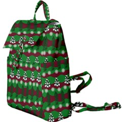 Snow Trees And Stripes Buckle Everyday Backpack