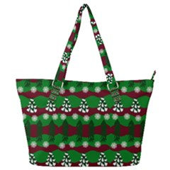 Snow Trees and Stripes Full Print Shoulder Bag