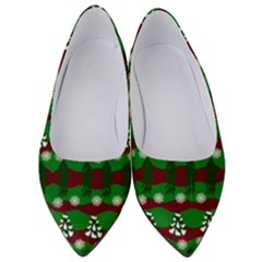 Snow Trees and Stripes Women s Low Heels