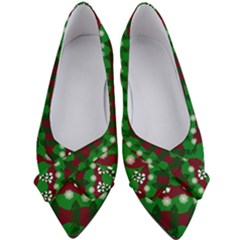 Snow Trees and Stripes Women s Bow Heels