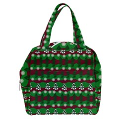 Snow Trees and Stripes Boxy Hand Bag