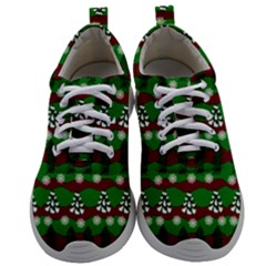 Snow Trees and Stripes Mens Athletic Shoes
