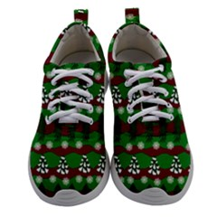 Snow Trees and Stripes Women Athletic Shoes