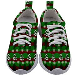 Snow Trees and Stripes Kids Athletic Shoes