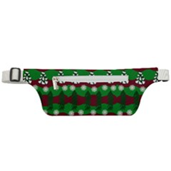 Snow Trees and Stripes Active Waist Bag