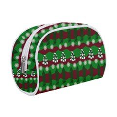 Snow Trees and Stripes Makeup Case (Small)