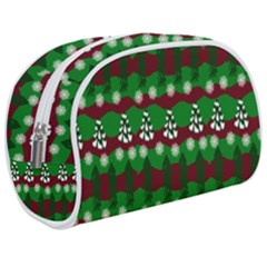 Snow Trees And Stripes Makeup Case (medium)