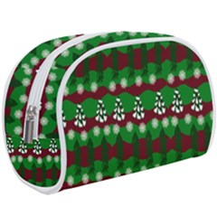 Snow Trees and Stripes Makeup Case (Large)