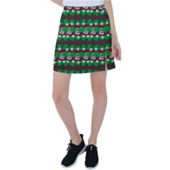 Snow Trees and Stripes Tennis Skirt