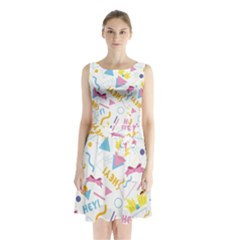 1 Arnold Sleeveless Waist Tie Chiffon Dress