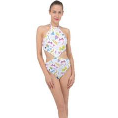 1 Arnold Halter Side Cut Swimsuit