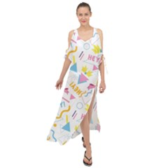 1 Arnold Maxi Chiffon Cover Up Dress