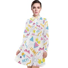 1 Arnold Long Sleeve Chiffon Shirt Dress