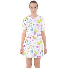 1 Arnold Sixties Short Sleeve Mini Dress