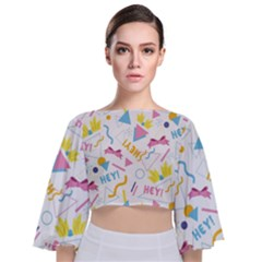 1 Arnold Tie Back Butterfly Sleeve Chiffon Top