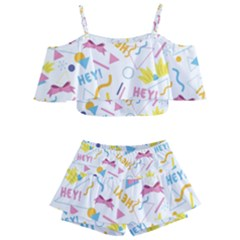 1 Arnold Kids  Off Shoulder Skirt Bikini