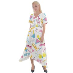 1 Arnold Cross Front Sharkbite Hem Maxi Dress