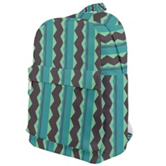 Background Chevron Blue Classic Backpack