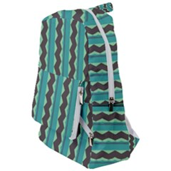 Background Chevron Blue Travelers  Backpack