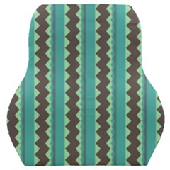 Background Chevron Blue Car Seat Back Cushion