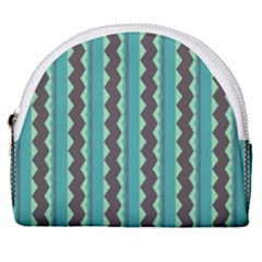 Background Chevron Blue Horseshoe Style Canvas Pouch by HermanTelo