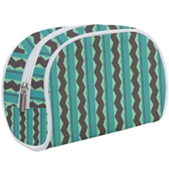 Background Chevron Blue Makeup Case (large) by HermanTelo