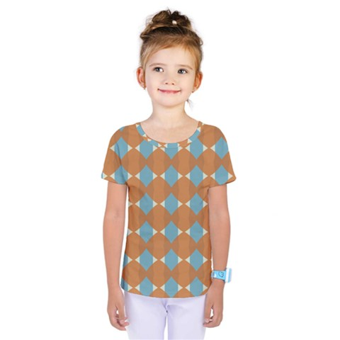 Pattern Brown Triangle Kids  One Piece Tee by HermanTelo