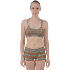 Pattern Brown Triangle Perfect Fit Gym Set by HermanTelo