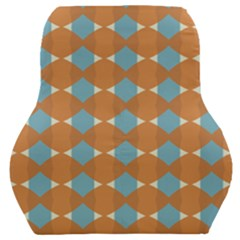 Pattern Brown Triangle Car Seat Back Cushion