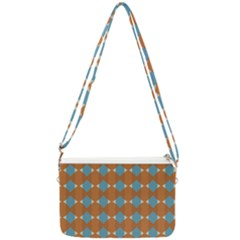 Pattern Brown Triangle Double Gusset Crossbody Bag