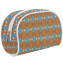 Pattern Brown Triangle Makeup Case (large) by HermanTelo