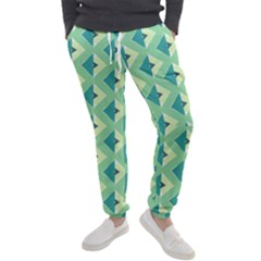 Background Chevron Green Men s Jogger Sweatpants
