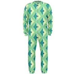 Background Chevron Green Onepiece Jumpsuit (men)