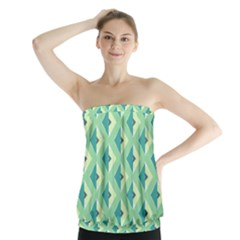 Background Chevron Green Strapless Top