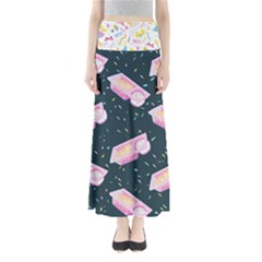 1 Arnold Dunkaroos Funfetti Print Dark Blue 1 Full Length Maxi Skirt