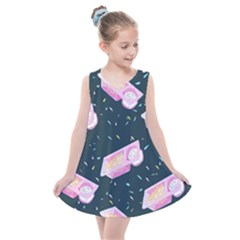 1 Arnold Dunkaroos Funfetti Print Dark Blue 1 Kids  Summer Dress