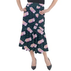 1 Arnold Dunkaroos Funfetti Print Dark Blue 1 Midi Mermaid Skirt