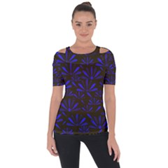 Zappwaits Flower Shoulder Cut Out Short Sleeve Top by zappwaits