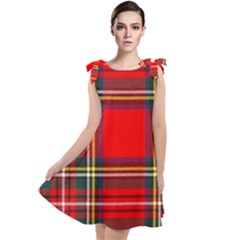 Stewart Royal Modern Heavy Weight Tartan Tie Up Tunic Dress