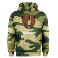 Alpha Bear Camo Men s Pullover Hoodie by ABeast