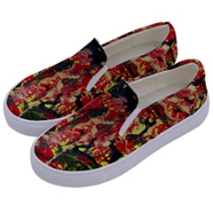 Red Country-1-2 Kids  Canvas Slip Ons by bestdesignintheworld