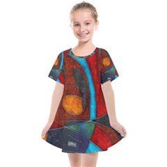 Abstract With Heart Kids  Smock Dress by bloomingvinedesign