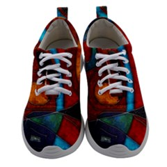 Abstract With Heart Women Athletic Shoes by bloomingvinedesign