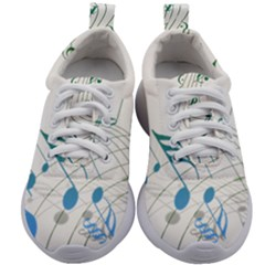 Music Notes Kids Athletic Shoes by Jojostore