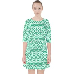 Pattern Green Pocket Dress