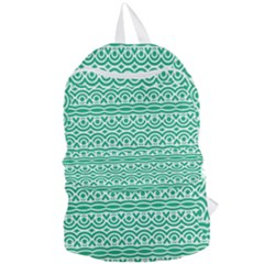 Pattern Green Foldable Lightweight Backpack